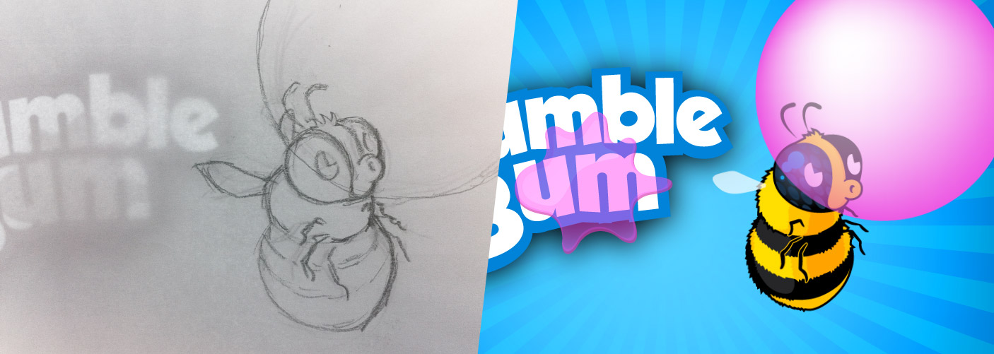 The artwork for the Bumble Gum game