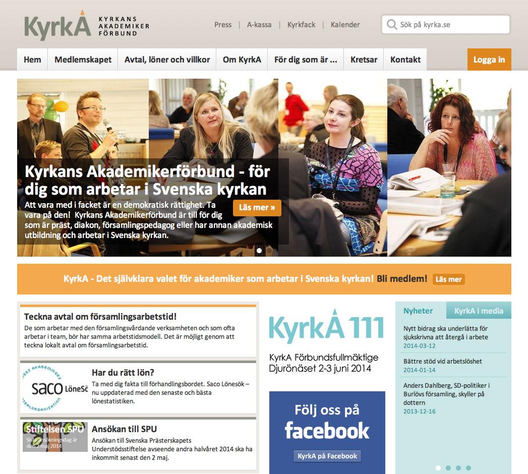 Kyrkans Akademikerförbund's web site